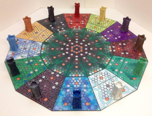 The 12 Towers - Completed 3rd edition game board