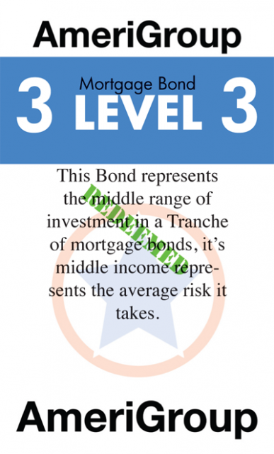 A bond card from the first prototype, these cards are still the ones in use but are undergoing a radical redesign to better refl