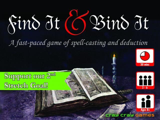 Find It & Bind It game live on Kickstarter