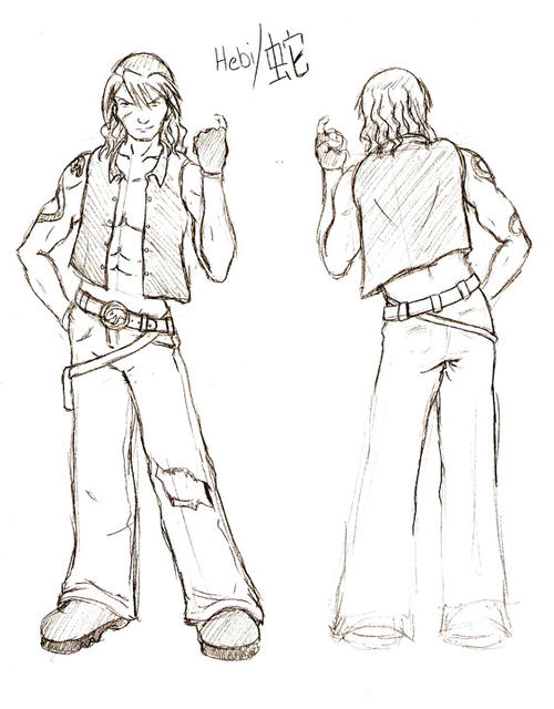 """Untitled Project...Character art-""""Hebi"""" stand-up"""