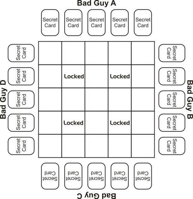 Maze grid for investigation step 1