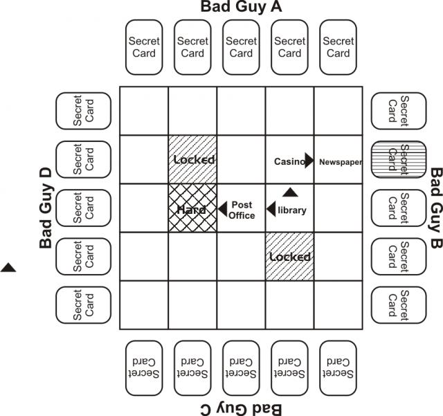Maze grid for investigation step 4