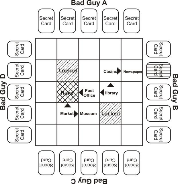 Maze grid for investigation step 5
