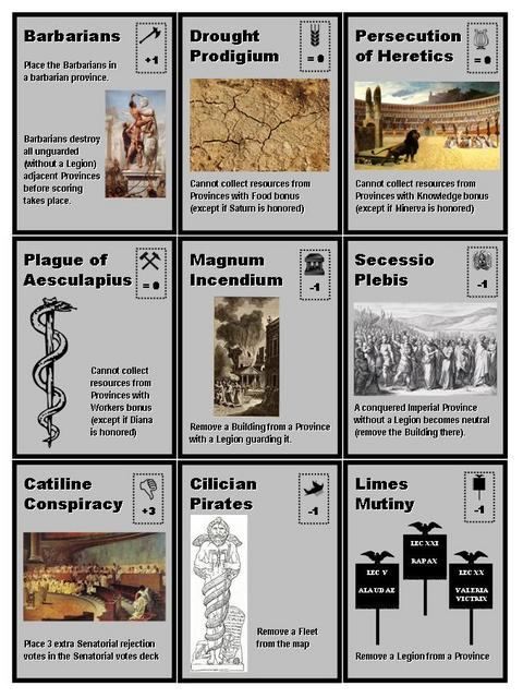 Roman Emperors - Events Cards