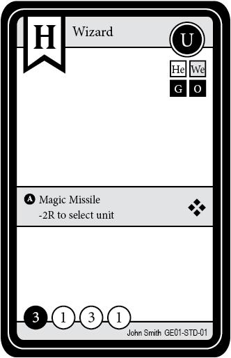 crystal heroes prototype card layout board game designers forum