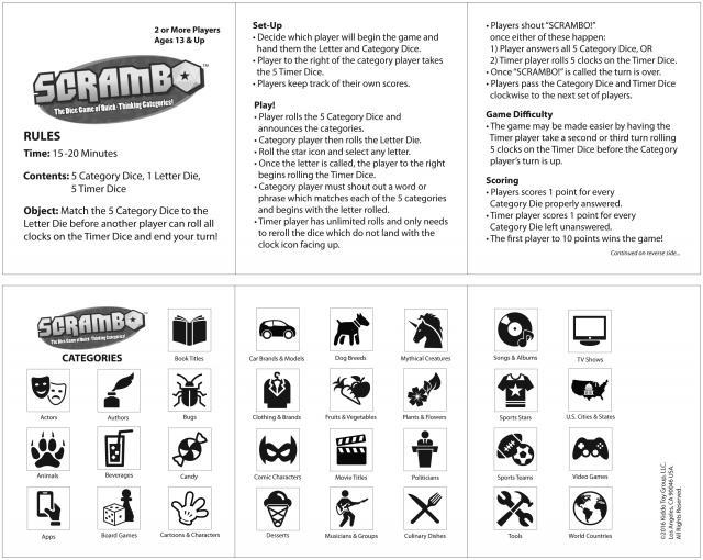Scrambo instructions