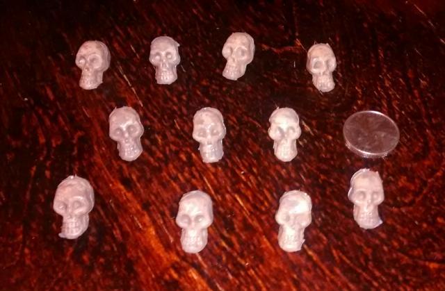 mini plastic skulls