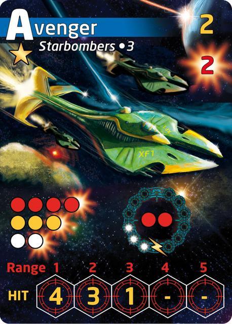 Space Commander Card - Avenger