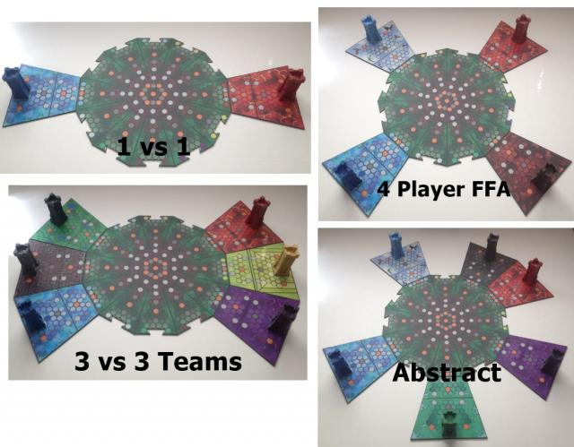 The 12 Towers, Game board play styles