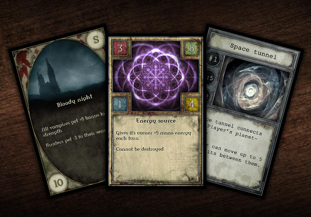 Game cards designs