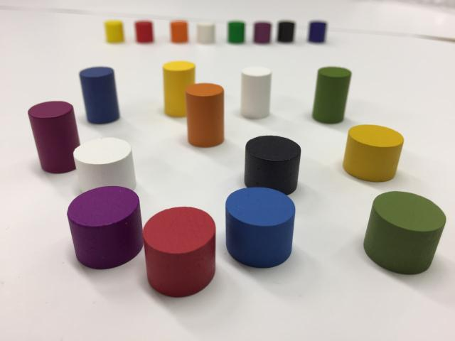 The Game Crafter - New Board Game Parts Available: 11mm & 14mm Wood Cylinders