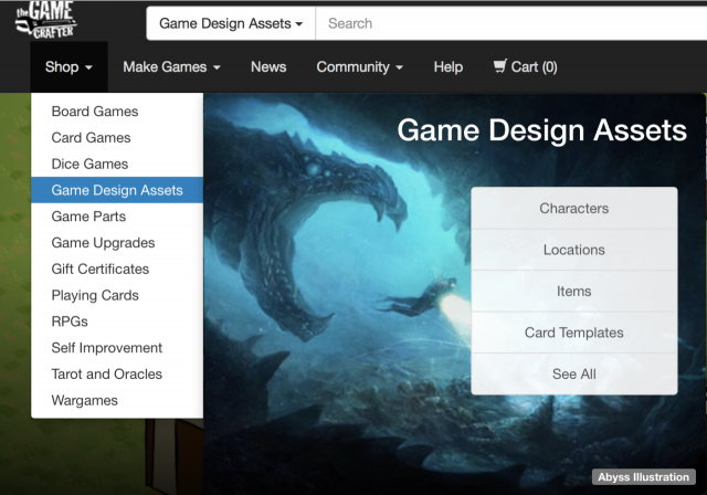 The Game Crafter - New Game Design Asset Shop