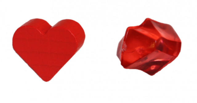 New Game Pieces Available: Hearts and Red Crystals
