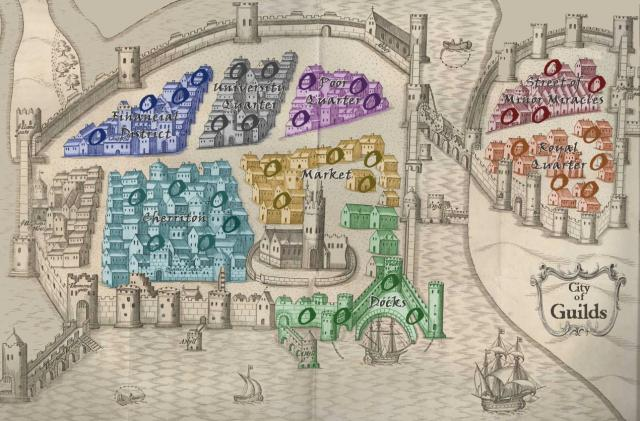 City of Guilds Map