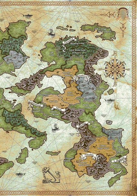 Part of the map for a board game I'm developing