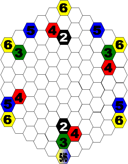 hex grid for 2-6 players