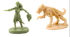 Zombie Girl and Zombie Dog Miniatures at The Game Crafter