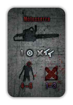 Contágio weapon card: Chainsaw