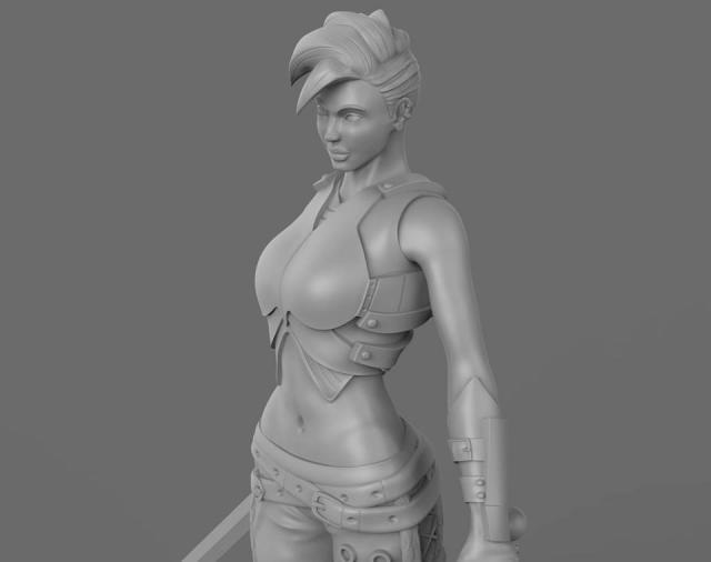 Female Warrior Pose1