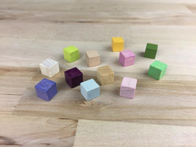 The Game Crafter - Board Game Pieces - 8mm Wood Cubes - Now 24 Colors Available!