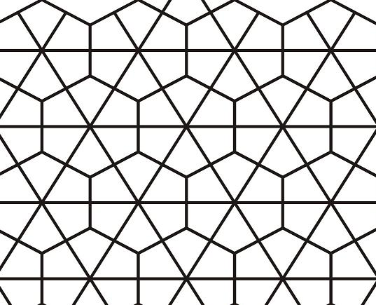 An example of the pattern that inspired the game board.