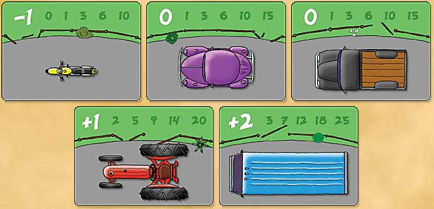 Cow Tipping Vehicle Cards