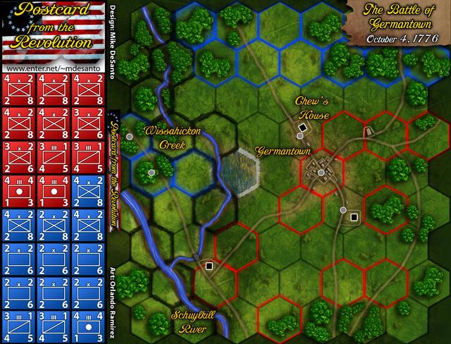 Battle of Germantown Map