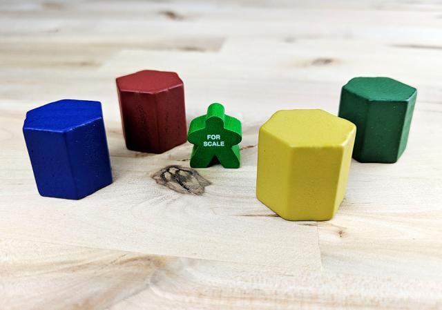 The Game Crafter - Board Game Pieces - 20mm Hexbox available at The Game Crafter