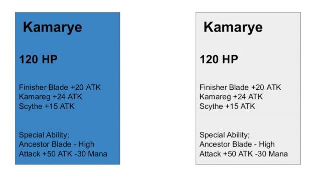 Battle of Lost Angels: Kamarye Card