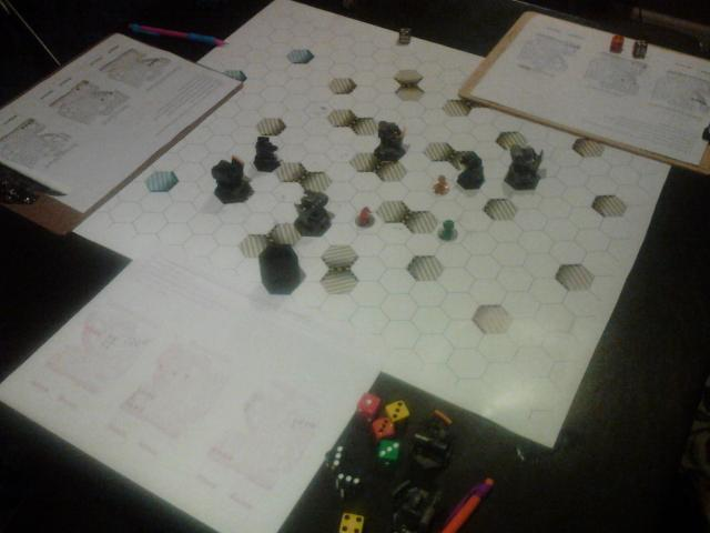 Play testing our game with 3 Bots!