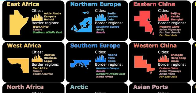 Income Region cards