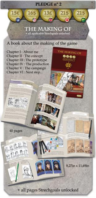 draft of pledge 2 reward with book Making of