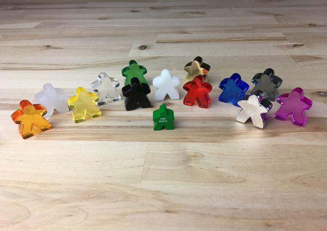 The Game Crafter - Board Game Pieces - Large Acrylic Meeples