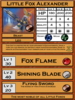This is the original design of Little Fox Alexander's stat card.