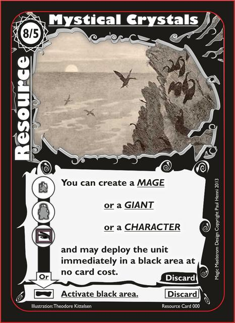 Magic Maelstrom - Further Revision, black resource card