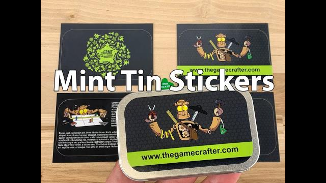The Game Crafter - Custom Printed Game Components - Mint Tin Stickers