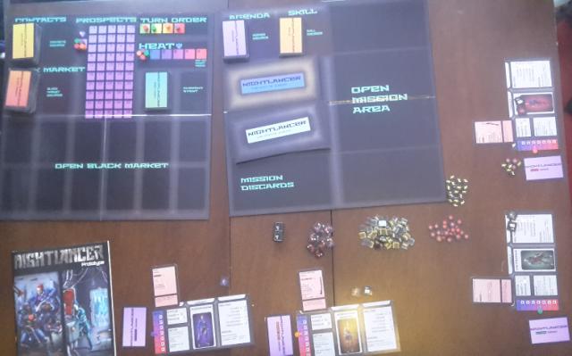 The Nightlancer v19 prototype example layout.