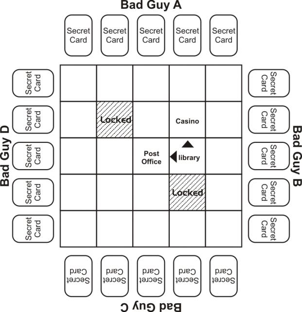 Maze grid for investigation step 2