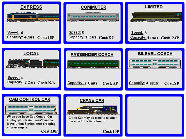 Train cards - Switchbacks and Sidetracks