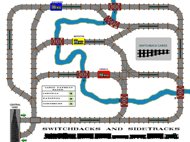 Switchbacks and Sidetracks Game Board