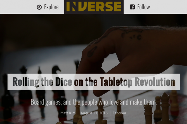 The Game Crafter - Rolling the Dice on the Tabletop Revolution - Inverse.com