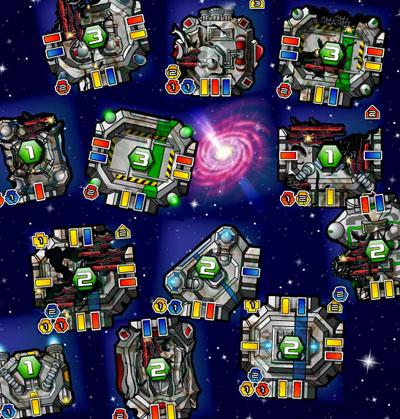 Space Junkyard tile samples