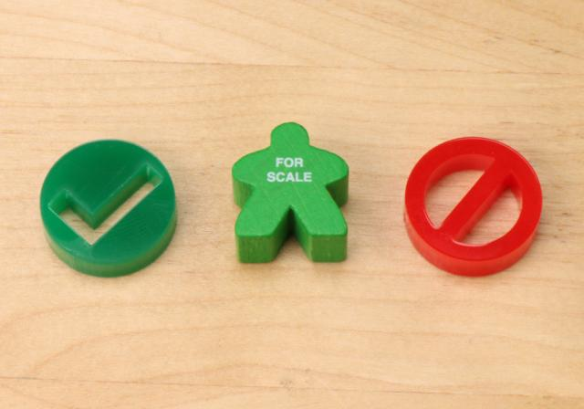 The Game Crafter - Board Game Pieces - Universal Yes & No Tokens