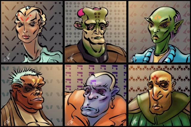 Addiso's Six Packs #1 - sci-fi faction portraits (comicbook style)