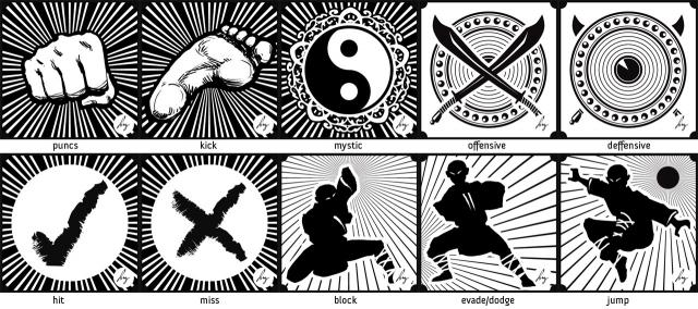 Addiso's Six Packs #2 - martial art icons (Shaolin theme)