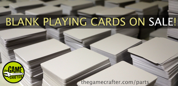 The Game Crafter - Blank Playing Cards on Sale! - July 2021