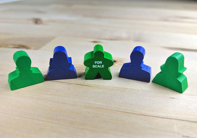 The Game Crafter - Board Game Pieces - Bust Tokens