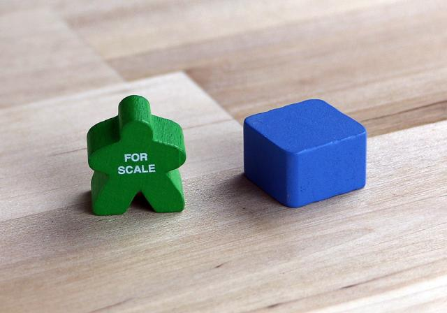 The Game Crafter - Board Game Pieces - Cobalt