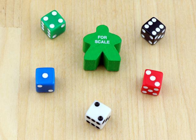 The Game Crafter - Board Game Pieces - D6 8mm Dice
