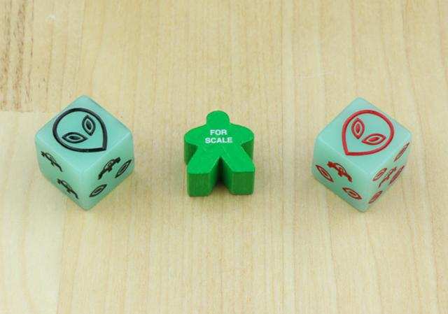 The Game Crafter - Board Game Pieces - D6 Alien Dice
